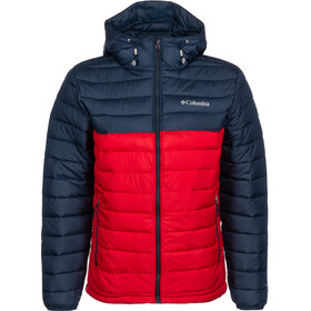 Columbia Powder Lite Giacca con cappuccio Uomo, mountain red/collegiate navy